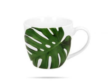 Kubek porcelanowy 460 ml Monstera DUO